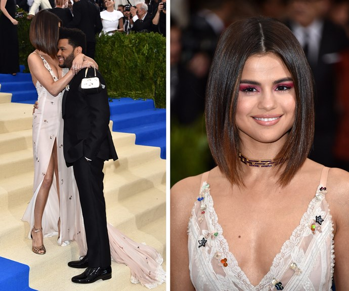 Selena Gomez and The Weeknd make it red carpet official.