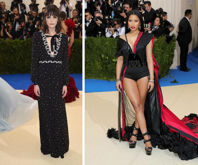 Stacy Martin and Nicki-Minaj look seriously fierce.