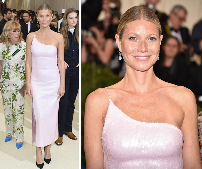 """She swore she'd never return to the Met Gala but four years later, [Gwyneth Paltrow](http://www.nowtolove.com.au/tags/Gwyneth-paltrow target=""""_blank"""") is officially back! """"I'm never going again. It was so un-fun. It was boiling. It was too crowded. I did not enjoy it at all,"""" the actress remarked after a bad experience at the 2013 Met Ball."""