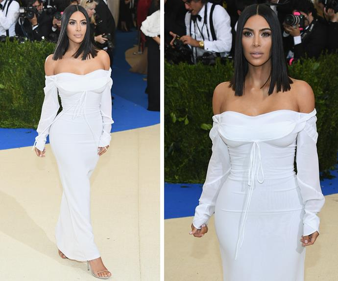 "Kim Kardashian flies solo with *People* reporting Kanye West is ""not ready to start attending big events."" The insider explains: ""It had nothing to do with the Met Gala. It was more about the stress and pressure of a big red carpet. He just wasn't quite there yet."""
