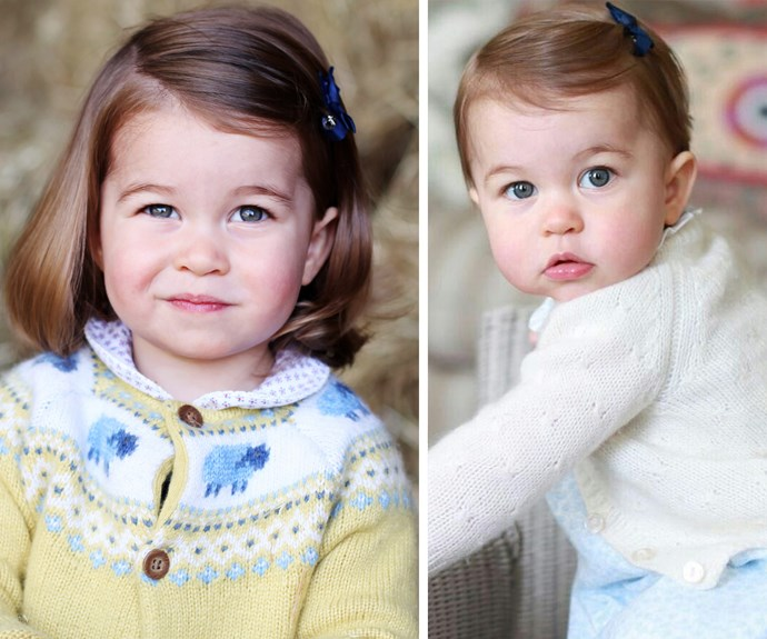 For those playing at home... The little Princess is donning the same bow she wore for her last birthday portrait.