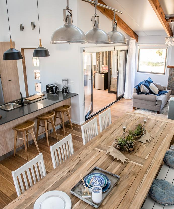 All three judges agreed that Aaron & Daniella had created the best example of contemporary country with their kitchen.