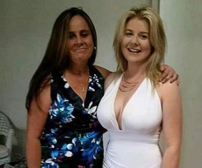 Cassie with her mum. Source: Facebook.