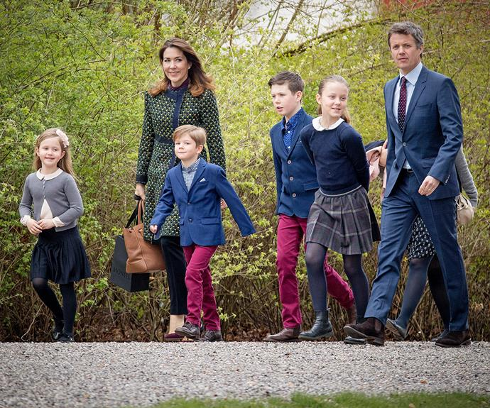 Sure, she may love jogging around Amalienborg Palace, but we're sure running after her (gorgeous) kids keeps Princess Mary busy enough...