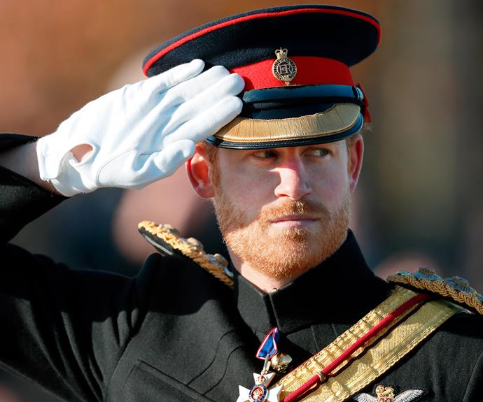 Prince Harry is military fit.