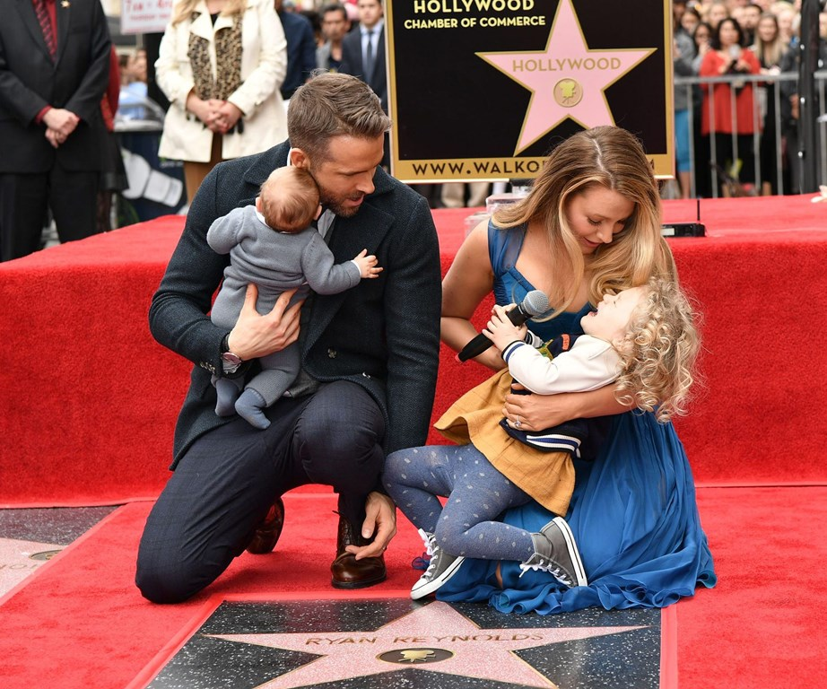 Blake Lively with her wee tribe.