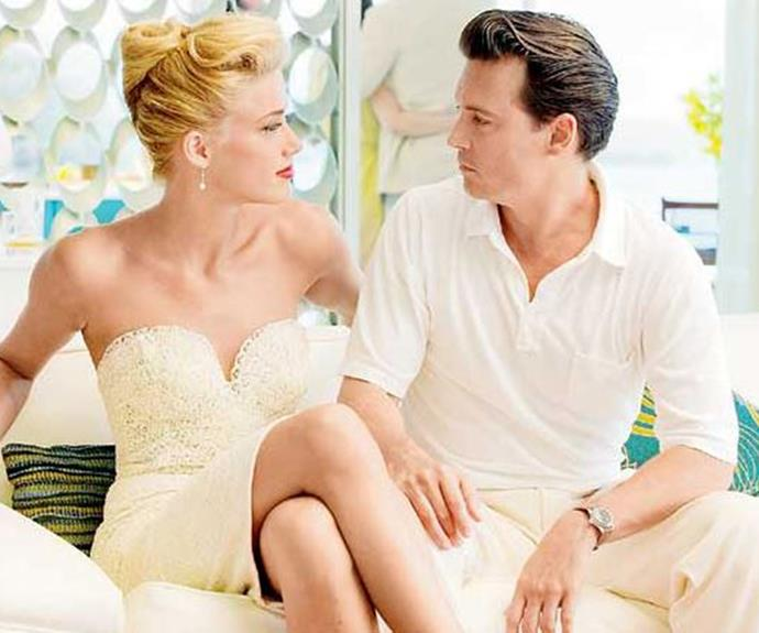 Johnny Depp and Amber Heard in *The Rum Diaries*.