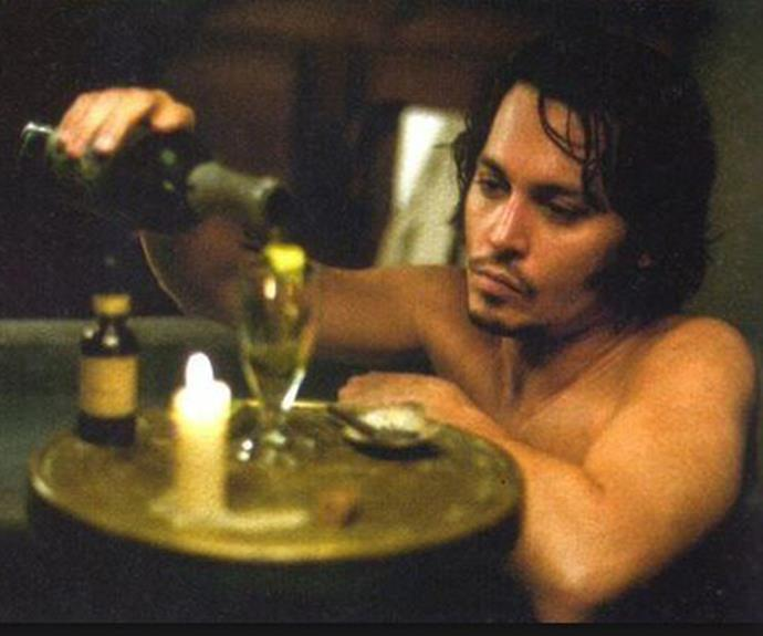 Johnny Depp in the 2001 film *From Hell*.