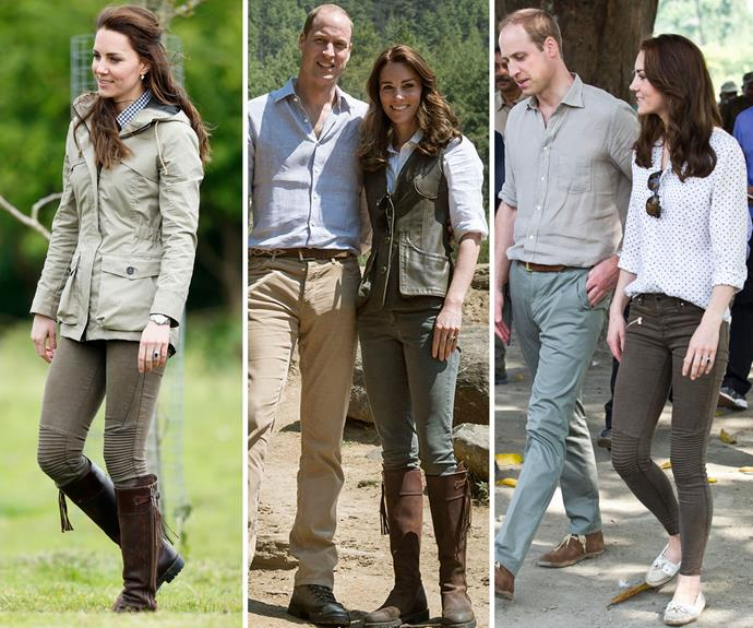 "Duchess Catherine visited a [farm](http://www.nowtolove.com.au/royals/british-royal-family/duchess-kate-is-casual-for-farm-day-in-gloucestershire-37201|target=""_blank"") in Gloucestershire, England wearing an outdoor ready khaki ensemble. We love when the Duchess wears her favourite pieces more than once (just like us!) and her Penelope Chilvers Long Tassel Boots have served her *so* well (she's been wearing them since 2004), she wore them on the [royal tour]( http://www.nowtolove.com.au/royals/british-royal-family/the-duke-and-duchess-of-cambridges-royal-tour-of-india-19779