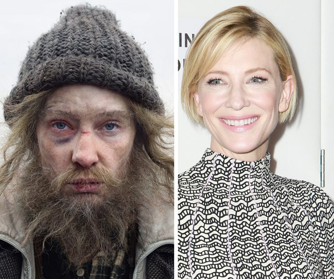 Cate Blanchett is that you? The beloved actress looks very different to her usual self in her new film, *Manifesto*.