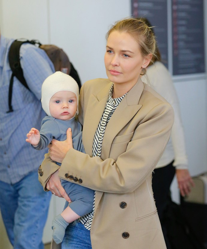 This is the very time the model has stepped out in public with her baby.