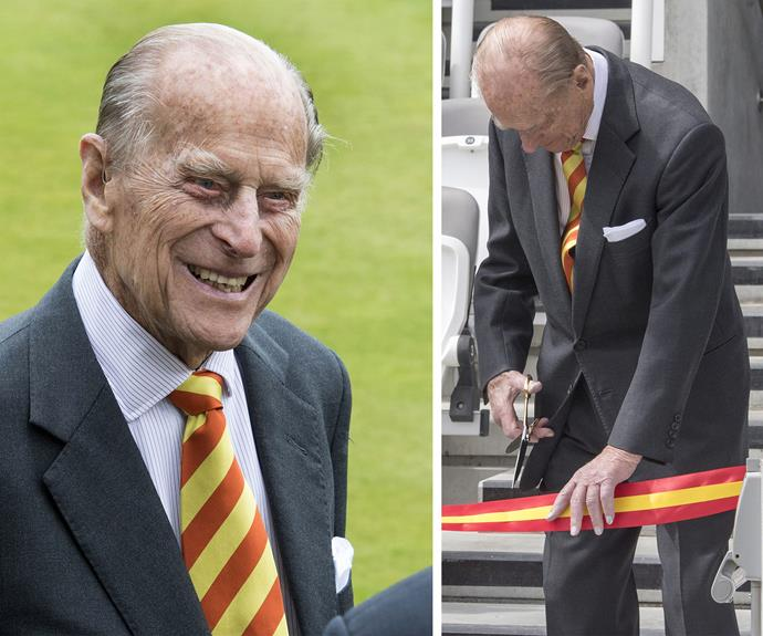 This was Philip's most recent outing. The Duke attended the Marylebone Cricket Club to open the new Warner Stand at Lord's Cricket Ground.