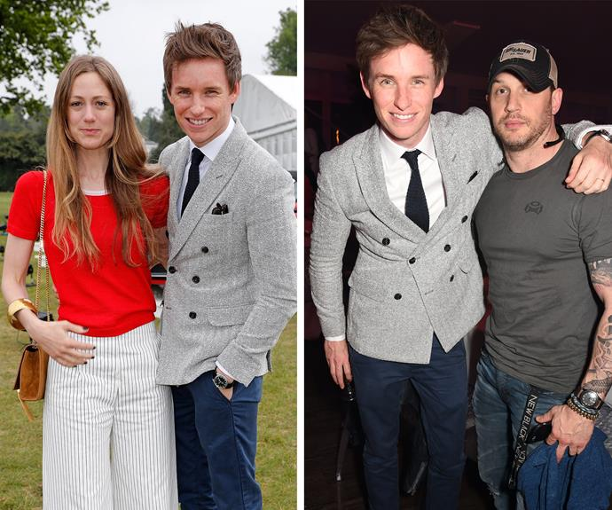 Eddie Redmayne hung out with his wife Hannah and actor Tom Hardy at the event.
