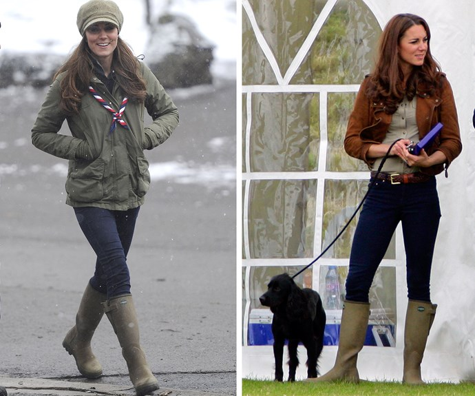 """Winter is not officially here, but the cold weather certainly is so it's time to bust out the gumboots. If you're in the market for a new pair, who better to take style inspiration from than Duchess Catherine, who's been spotted wearing these country-chic [Le Chameau Vierzonord](http://www.countryandstable.com/le-chameau-ladies-vierzonord-neoprene-lined-boots/