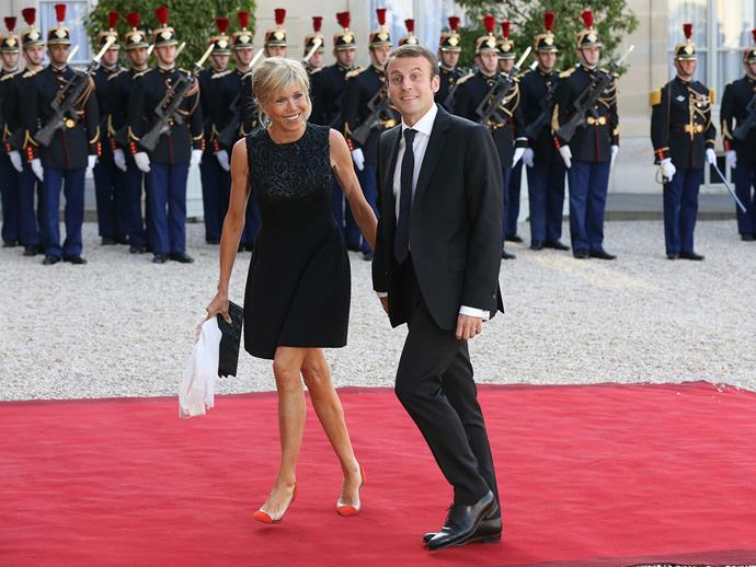 """The First Lady has refused to conform to colour-blocked power dresses of other political wives and embraces a modern style.  Delphine de Canecaude, a Paris-based art director, told *L'Express*: """"She's rock'n'roll. Not for a second does she say, 'I'm 63, so I cannot wear short skirts'. Twelve-inch heels, sleeveless dresses, leather trousers, she dares everything. She is a mega wonderwoman."""""""