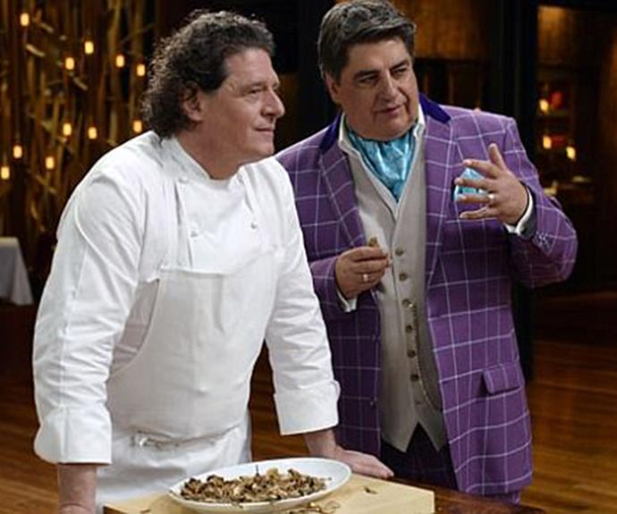 The way they were: Marco Pierre White and Matt Preston on *Masterchef Australia*.