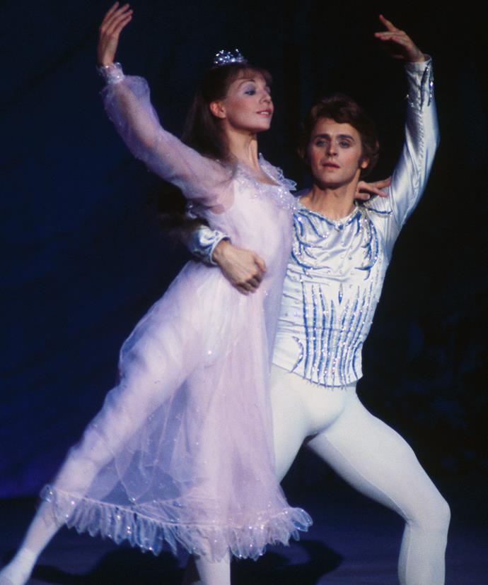 Mikhail Baryshnikov dances The Nutcraker during the '90s.