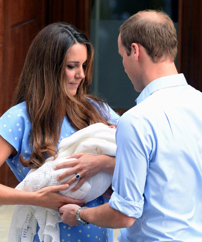 On July 23, 2013, history repeated itself. Outside the Lindo Wing, The Cambirdges introduced their son Prince George to the world.