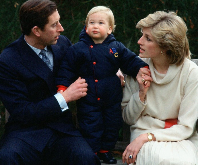 Prince William was just 18 months when this snap was taken at Kensington Palace.