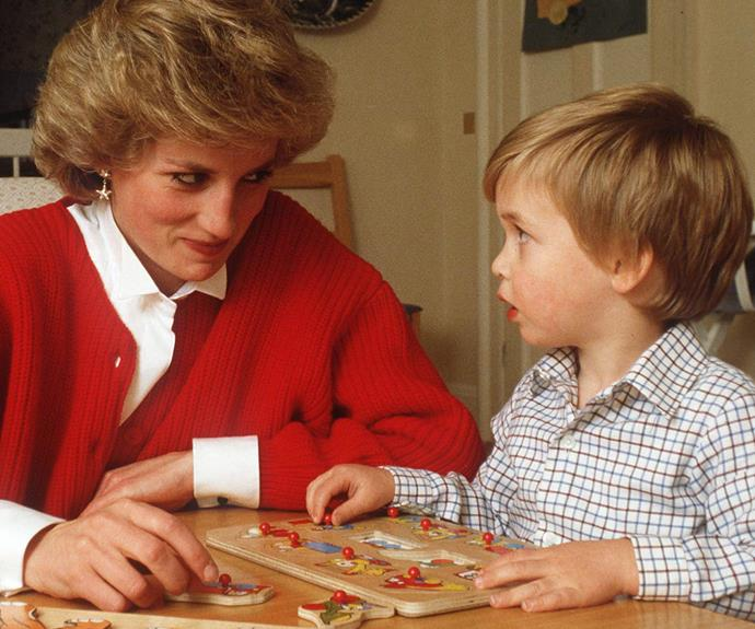 Diana gave the world unprecedented access with this sweet snap with her son in 1985.
