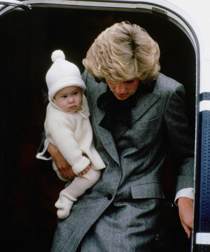 Look at baby Harry, pictured here in 1991.