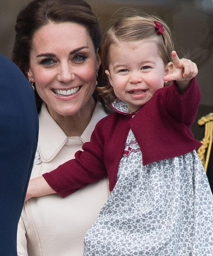 Oh look! Princess Charlotte has discovered the art of the royal point.