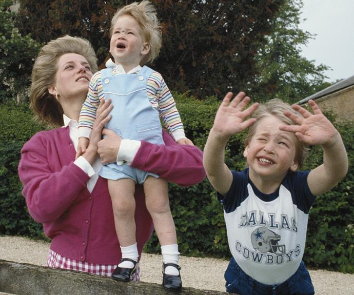 Diana, pictured with Harry and William in 1986, always wanted to give her kids a grounded upbringing, doing things any kid would want to do.