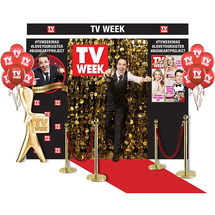 The TV WEEK Photo booth on site.