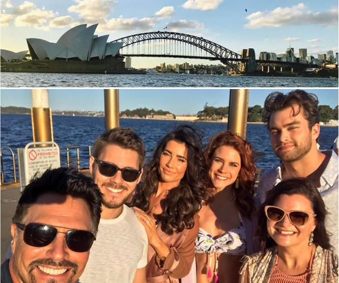 Smiles all around as *The Bold and the Beautiful* crew took on Sydney Harbour!