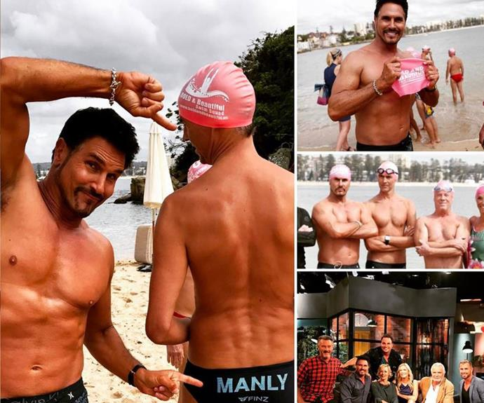 Don Diamont shared a few pics lapping it up at Manly Beach!