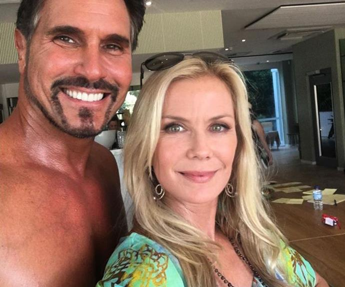 Katherine Kelly Lang snapped a selfie with co-star Don Diamont.