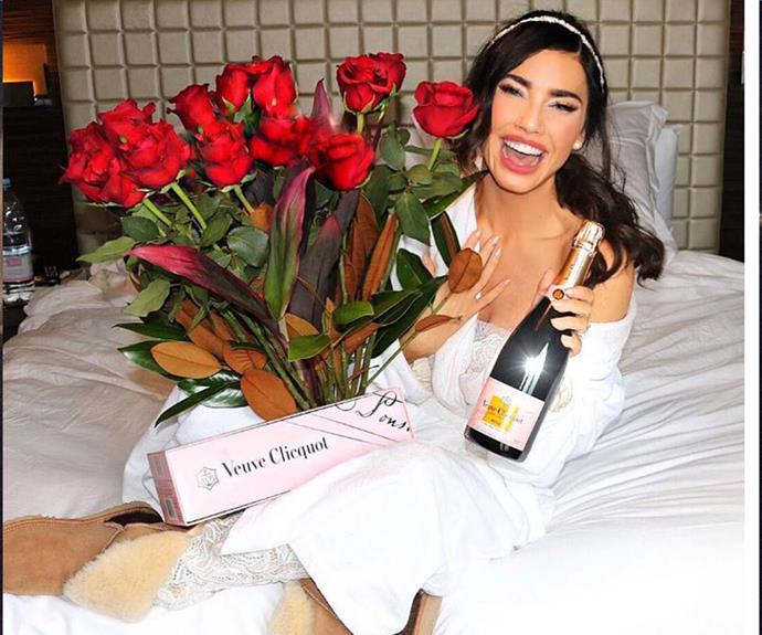 Jacqueline MacInnes Wood posted a pic in her ugg boots after she received a surprise Valentine's Day gift!