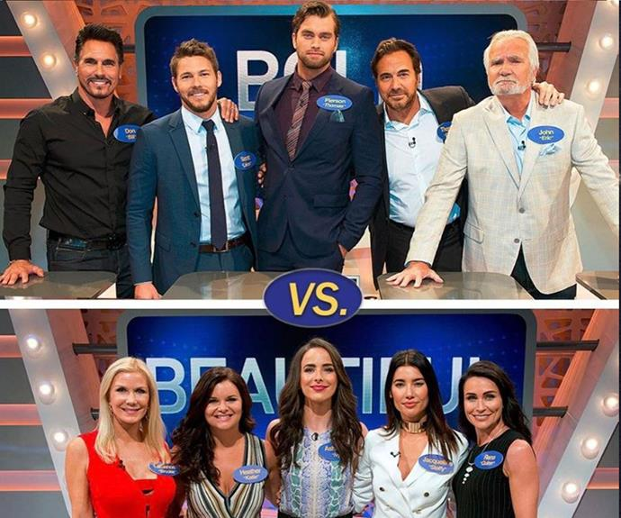 The cast battled it out on Channel 10's *Family Feud*!