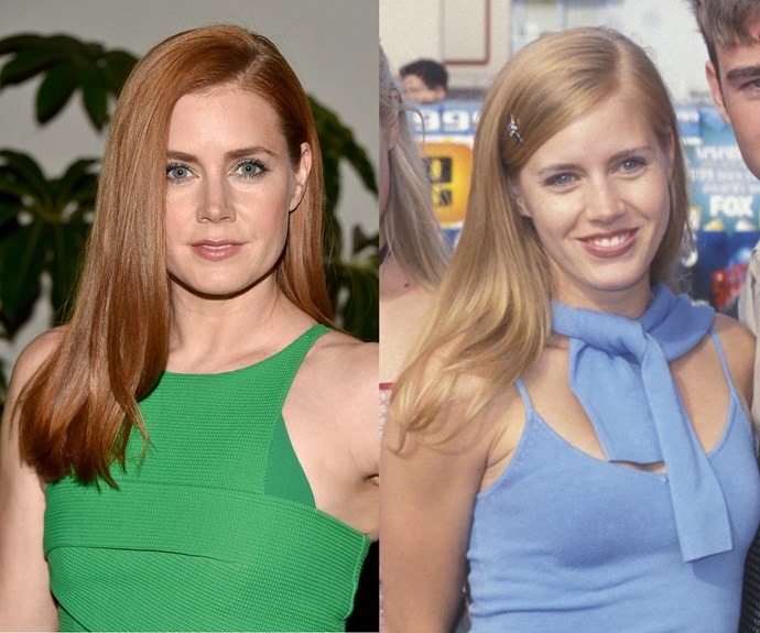 """**Amy Adams.** The auburn-haired actress is one of Hollywood's most famous redheads, but take a trip down memory lane and you'll see that the *Nocturnal Animals* star is actually blonde. Speaking of her decision to switch to red, she says: """"The red hair suited my personality. I was a terrible blonde!"""""""