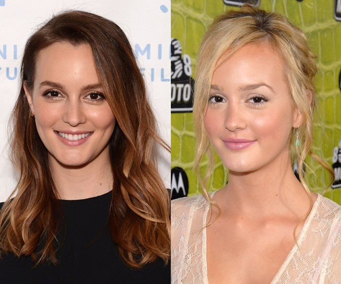 **Leighton Meester.** Everyone's favourite sassy upper East sider had us thinking she was a brunette, but in actual fact the mum-of-one is a natural blonde. Since playing Blair, the actress has been gradually lightening up and returning to her natural hue.