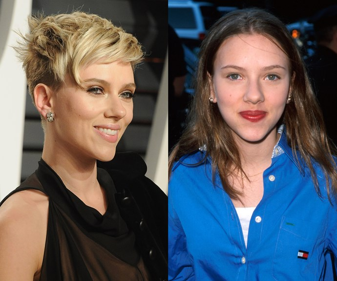 **Scarlett Johansson.** The actress has been cast as the blonde bombshell many times, but those who watched *The Horse Whisperer* will remember Scarlett's naturally darker locks.