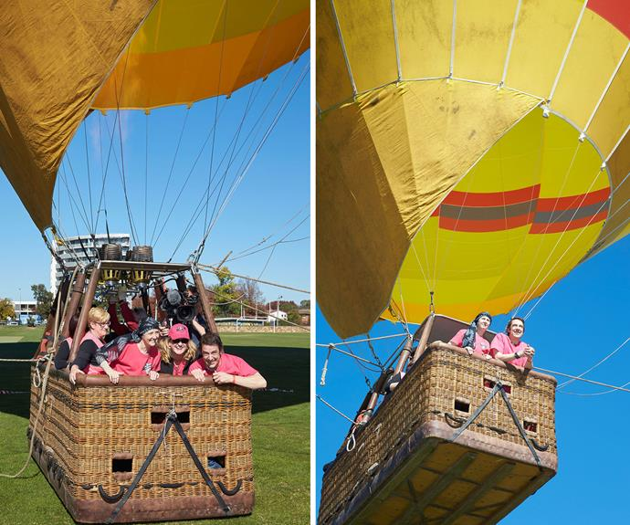 Sam, Connie and friends go up in a hot air balloon to see the full impact of their big heart.
