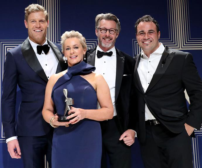 Winners are grinners at the 2017 Logie Awards.