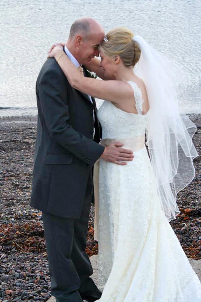 Morag and Dereck on their wedding day. Credit: Take 5 magazine.