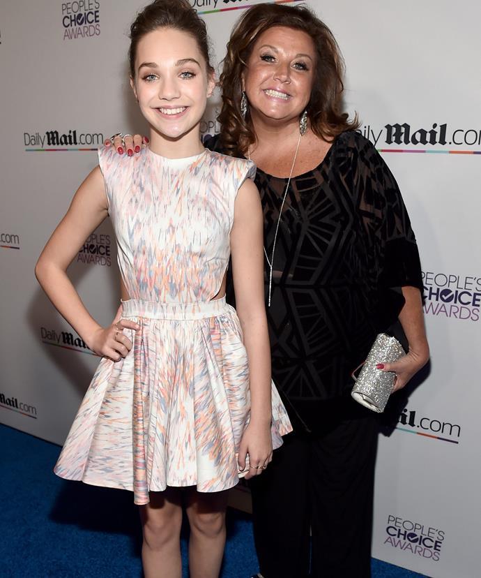 Abby with her celebrated prodigy, Maddie Ziegler.
