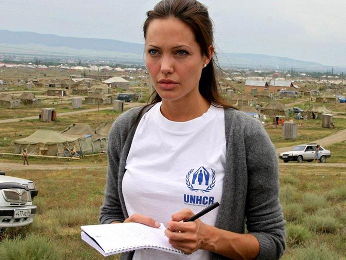 Where to even begin on Angelina Jolie's generosity? According to tax records, Angelina and Brad donated more than $8 million to charity in 2006 alone. She was awarded the Global Humanitarian Award for her significant work with UNHCR and refugees, donated $1 million to Doctors Without Borders after an earthquake in Haiti, and has contributed extensively to conservation work.