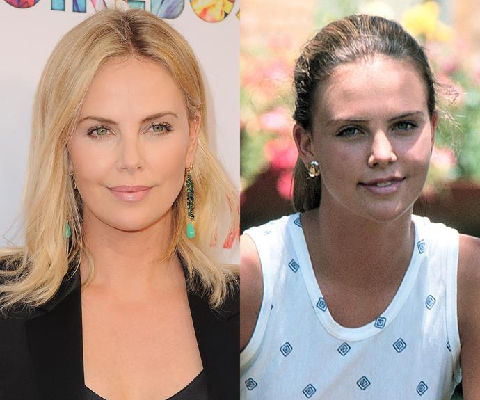**Charlize Theron.** The South African-born actress is famous for her beautiful blonde hair, but childhood snaps tell a different story. Turns out her hair colour is less The Evil Queen and more Snow White!
