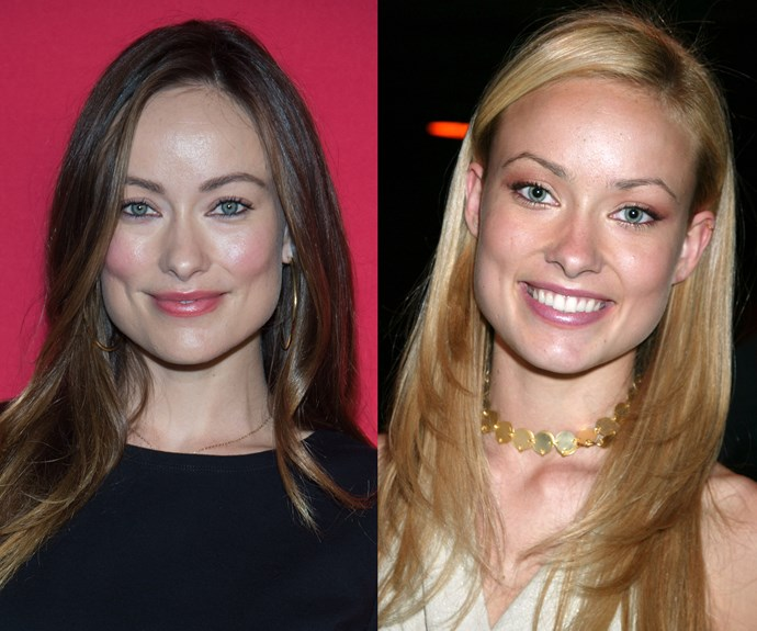 **Olivia Wilde.** Fans of *The O.C.* may remember the actress playing the blonde manager of the Bait Shop. But the mum-of-two didn't dye her hair drastically for the role, she's just been colouring it brunette ever since!
