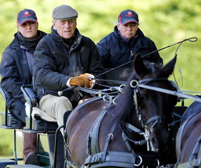The Duke adores carriage driving.
