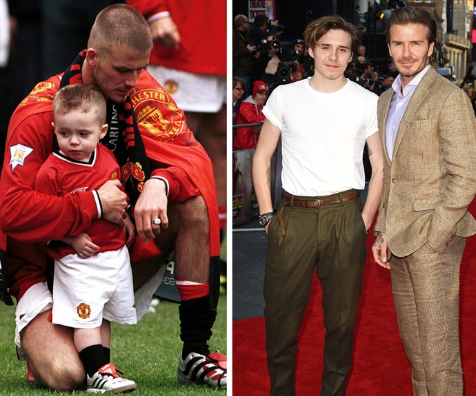 Brooklyn has supported his father through his career's biggest milestones.