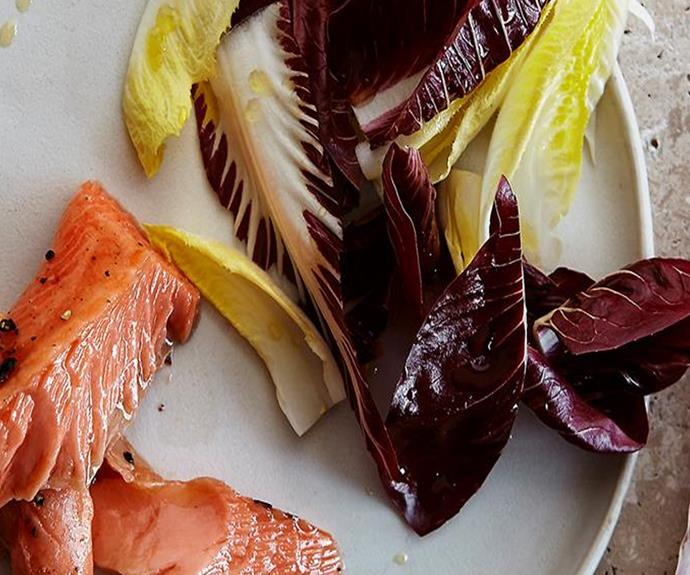 Pair your blanched chicory with confit ocean trout for a refreshing Sunday lunch - we know we will be.