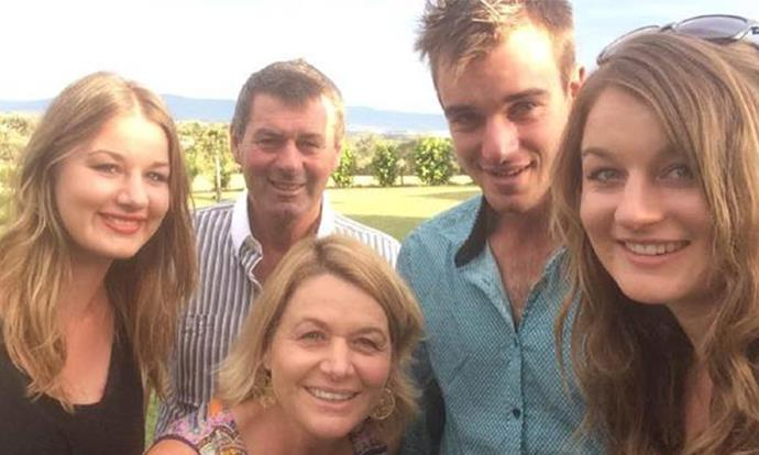 The tight-knit Tromp family: (L-R) Riana, Mark, Jacoba, Mitch and Ella.