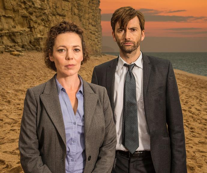 **Broadchurch:** Taking its cues from *Twin Peaks* and the darling of Nordic noir *The Killing*, British seaside whodunnit *Broadchurch* is just as much about the effects of a terrible crime on a tight knit community as it is about a brutal murder. With central performances by *Doctor Who's* David Tennant and a devastating turn by the always brilliant Olivia Coleman, the murder of a young boy in the small Dorset town slowly unfolds as the dark secrets of the locals interfere with good old fashioned policework.