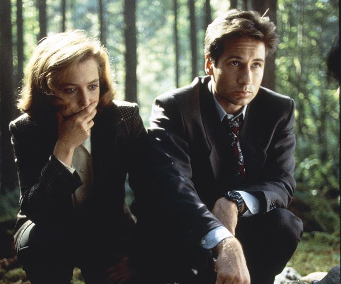 """**The X-Files:** It's not just the suits, although David Duchovny did cut a dashing figure as Fox Mulder, the FBI agent who believed when all around him scoffed. *Twin Peaks* introduced the otherworldly and the pan dimensional into mainstream. *The X-Files* added more obvious sci-fi tropes. Certain episodes, like the grisly family horrors of """"Home"""", take Lynch's nightmarish visions and twist them even further, losing much of Lynch's whimsy on the way. The show returned to the small screen last year and Duchovny will be frocking up again as Agent Denise Bryson in the third season of *Twin Peaks*."""