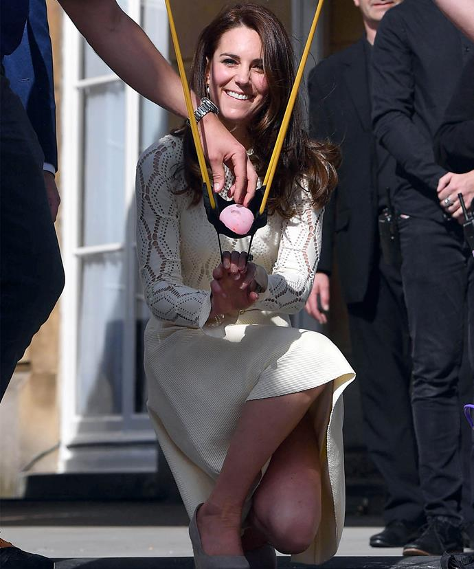Water balloon attacks from the Duchess!